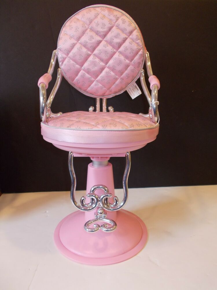 PINK HAIR SALON CHAIR FITS 18 GIRL DOLL AMERICAN OUR GENERATION BATTAT