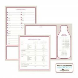 Martha Stewart 21581 Home Office Avery Dry Erase Decals Red Gray wipes cleanly