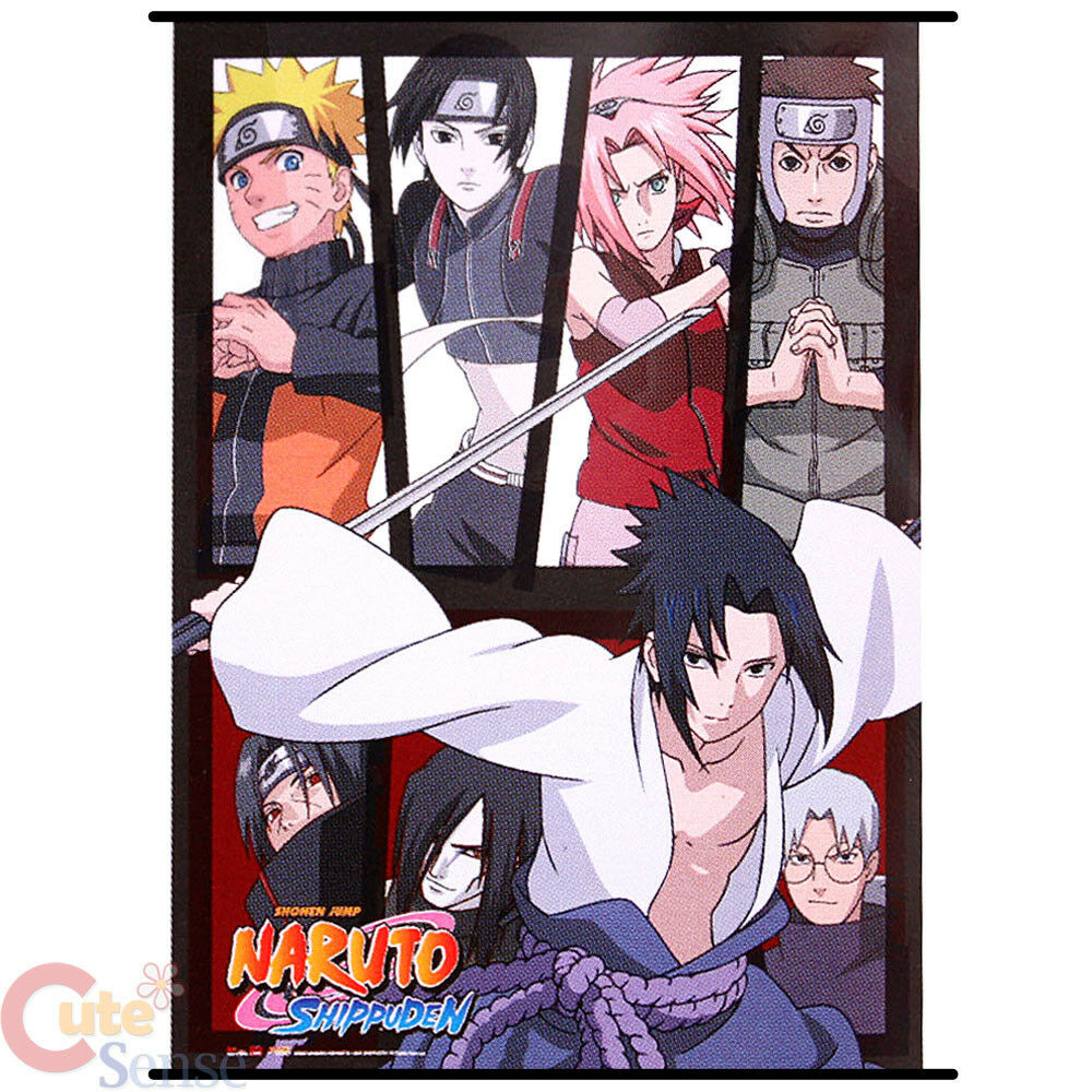 Naruto Shippuuden Group Wall Scroll GE5255 Fabric