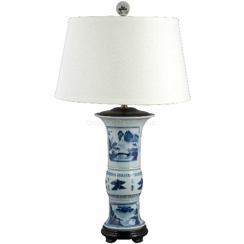 classic blue and white porcelain oriental dressy lamp ebay. Black Bedroom Furniture Sets. Home Design Ideas