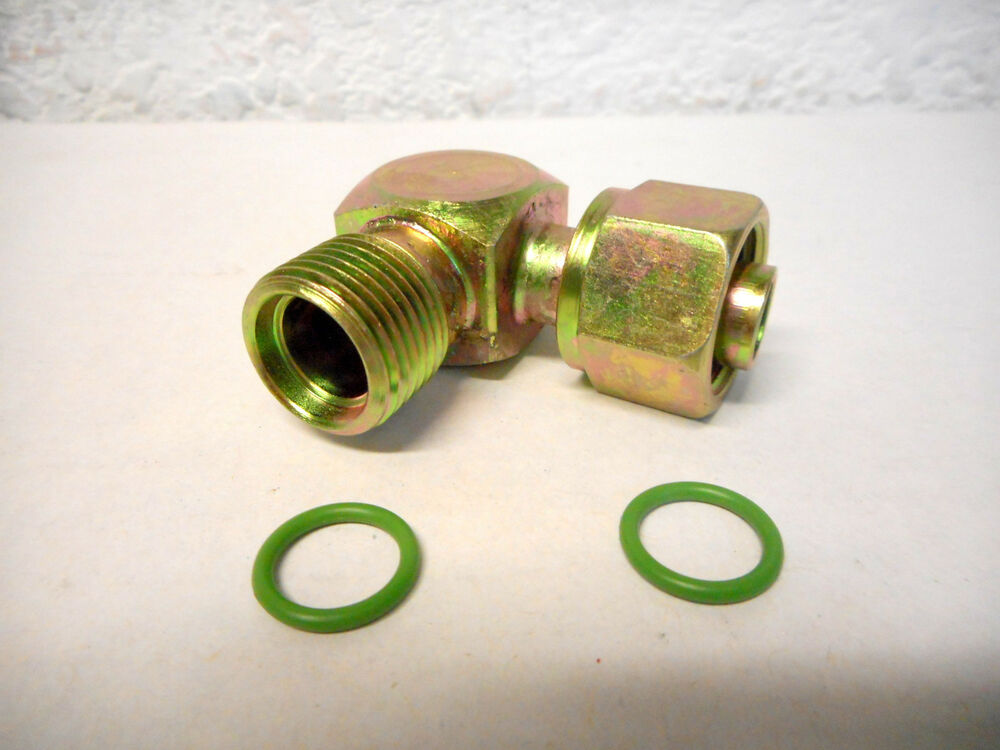 Male o ring to female degree a c adapter