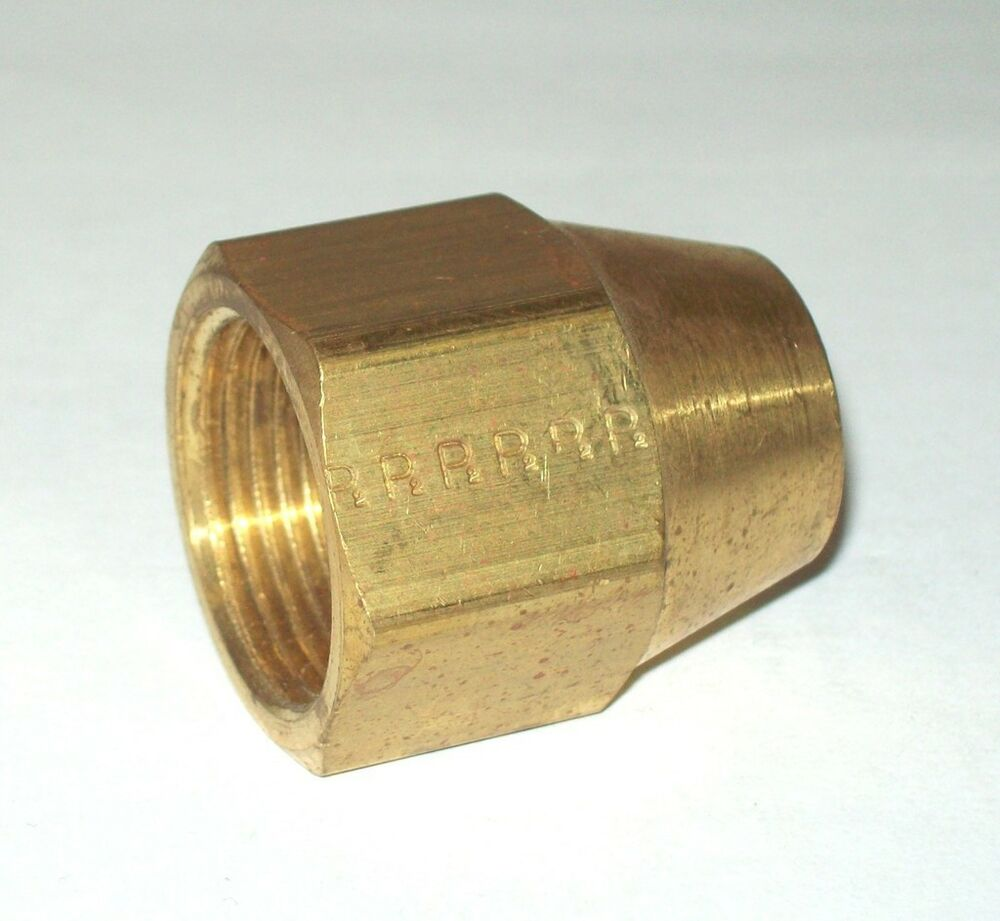 Parker fs quot degree flare brass short nut