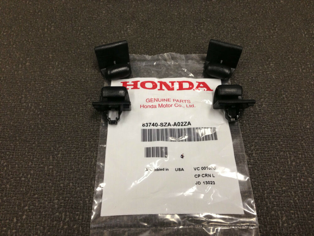 Genuine OEM Honda Pilot Touring Black Rear Door Sunshade Hook 4-Pack - 2009-2015 | eBay