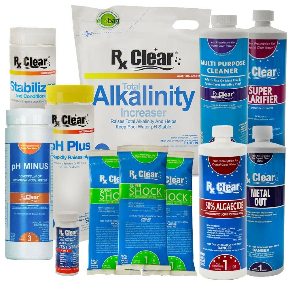 Deluxe Spring Pool Start Up Opening Chemical Kit For Pools Up To 7 500 Gallons Ebay