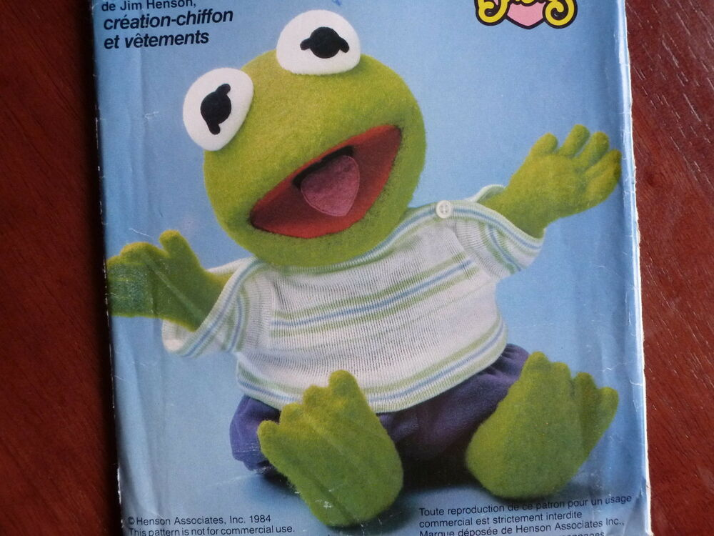 Craft Pattern Vogue 8966 Jim Henson Muppet Babies Kermit