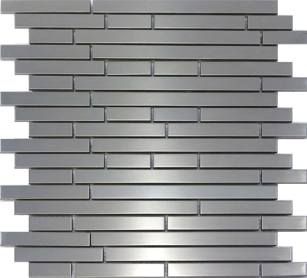 Sample Stainless Steel Metal Pattern Mosaic Tile Kitchen: Stainless Steel Metal Interlocking Mosaic TIle