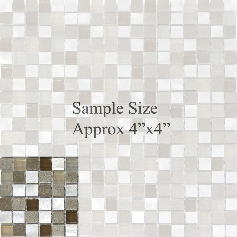 Sample Stainless Steel Metal Pattern Mosaic Tile Kitchen: Glass Metal Stainless Steel Mosaic Tile Kitchen