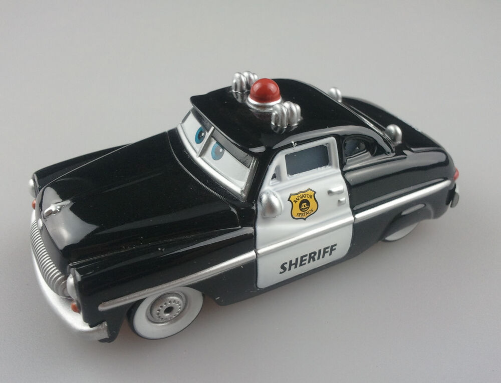 disney pixar cars sheriff mercury police car 1 55 diecast auto vehicle ebay. Black Bedroom Furniture Sets. Home Design Ideas