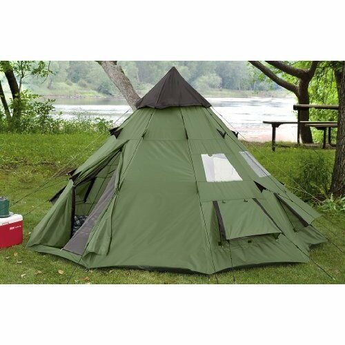 OUTDOOR CAMPING 6 Person 10 X 10 TEEPEE STYLE WEATHER ...