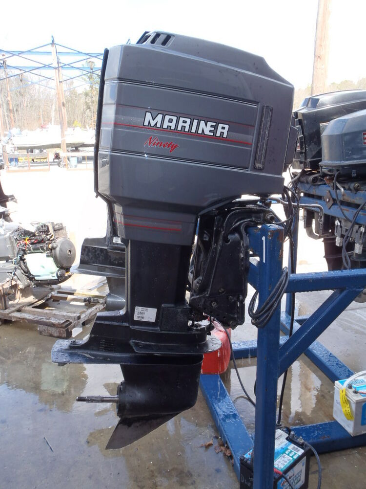 Used 1989 mariner 90elpto 90hp 2 stroke outboard boat for Used 90 hp outboard motors