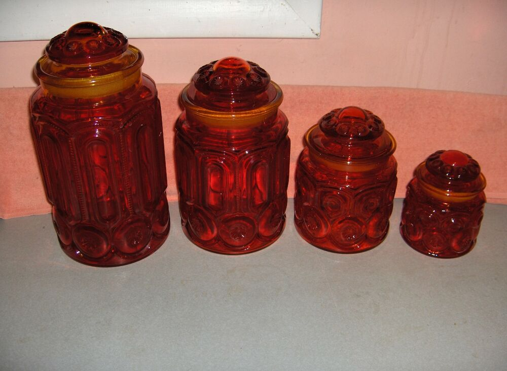 Amber Orange Glass Collections