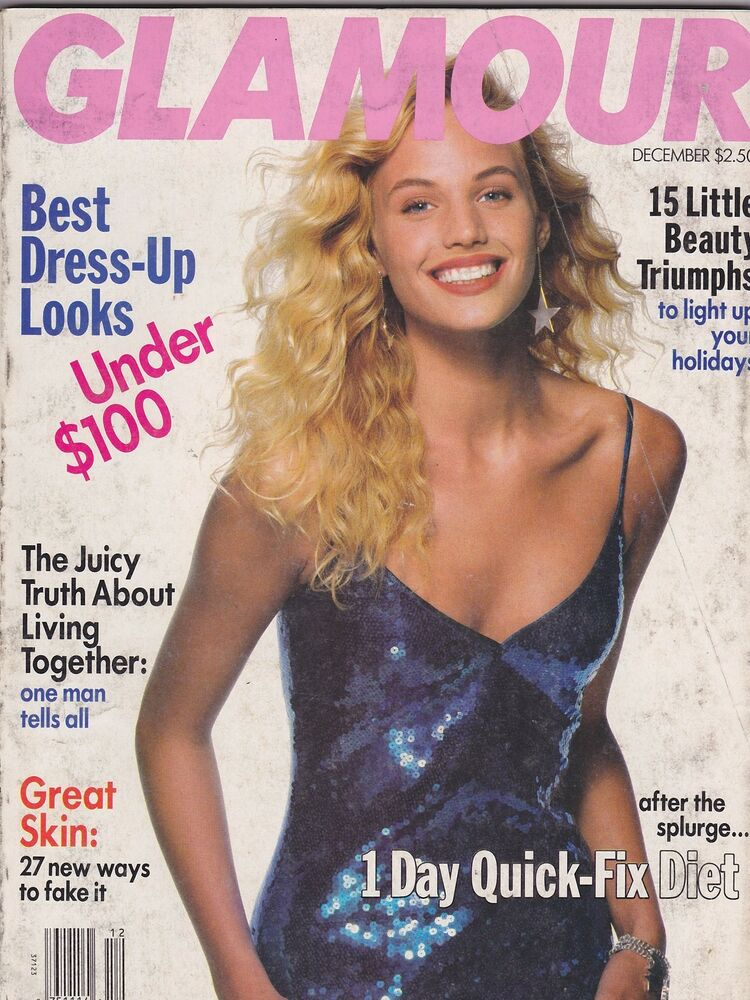Dec 1989 Glamour Vintage Womens Fashion Magazine Ebay
