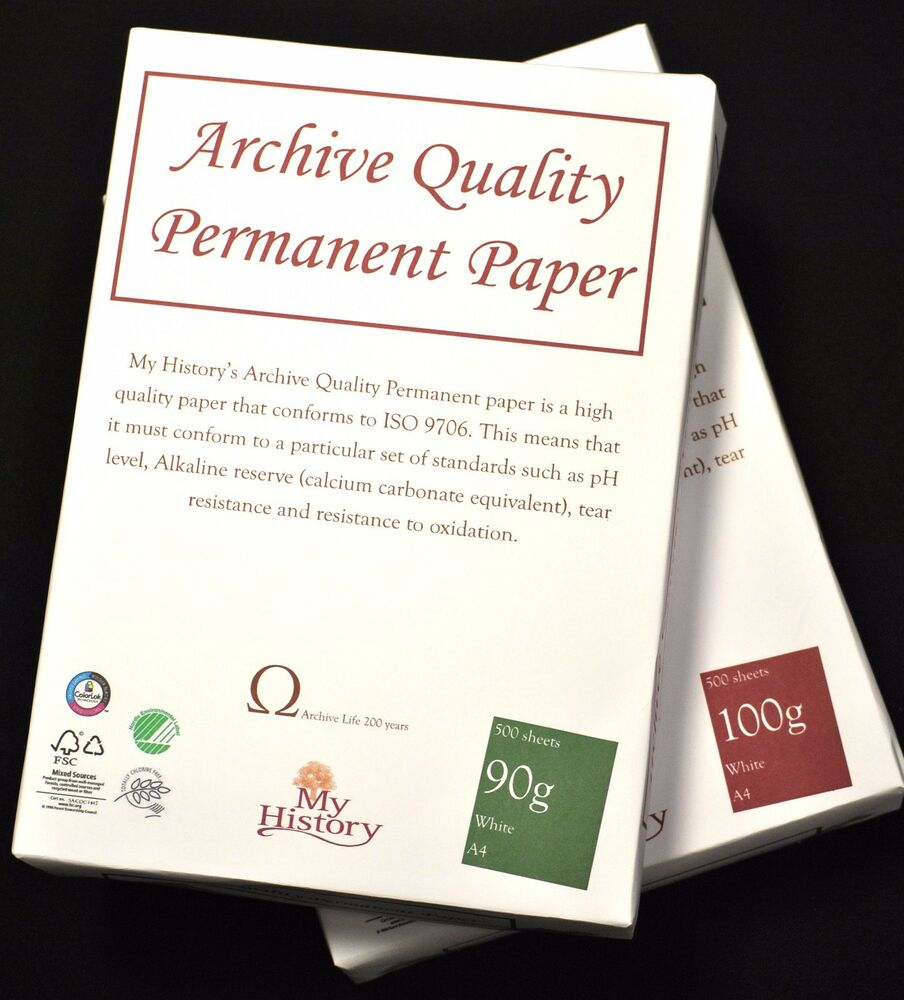 archival paper Watercolor paper guide: learn how to select the best paper for your needs, style and budget we'll look at quality, fiber content, weight, texture & more.