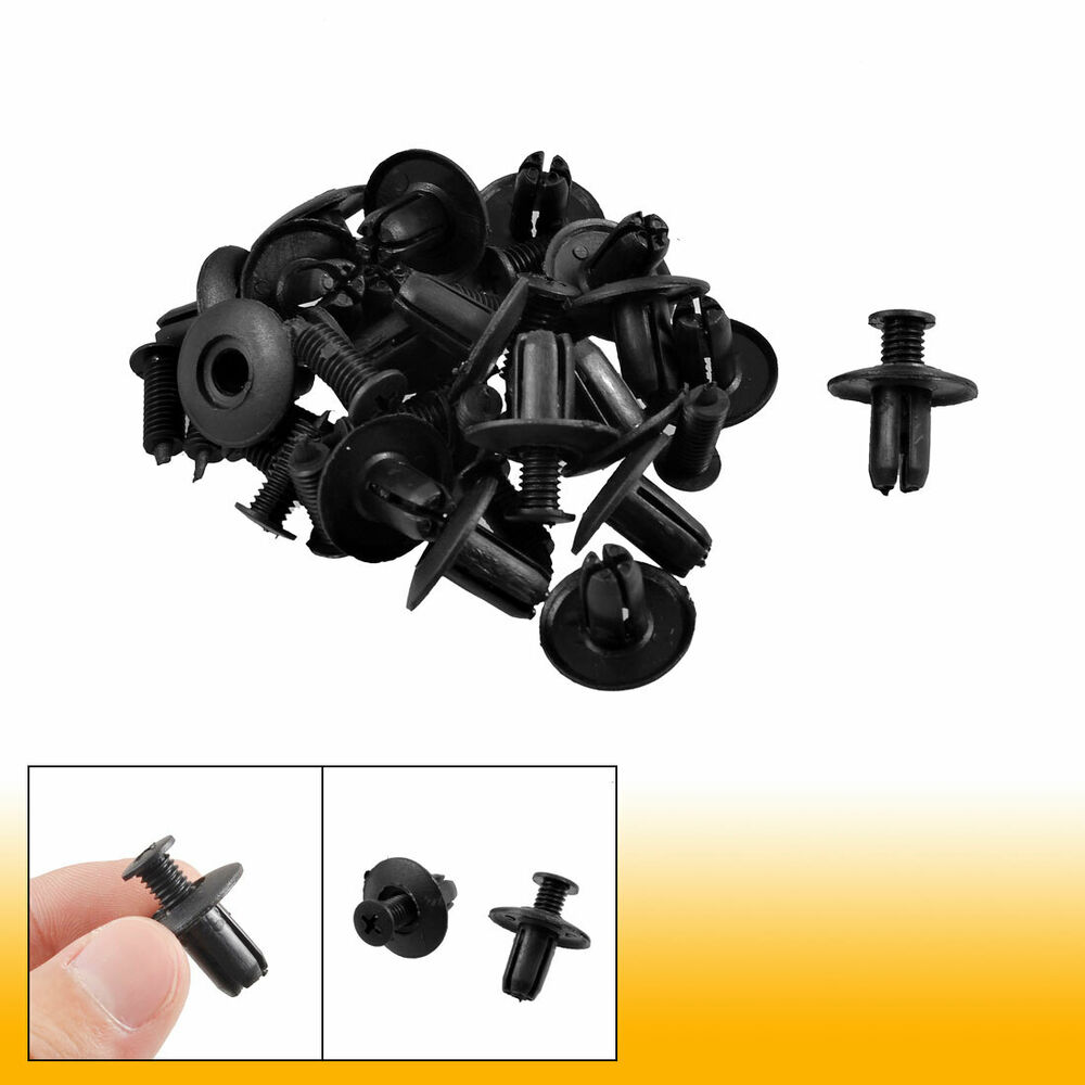 20x auto car interior panel trim clips black plastic rivets for 8mm hole ebay. Black Bedroom Furniture Sets. Home Design Ideas