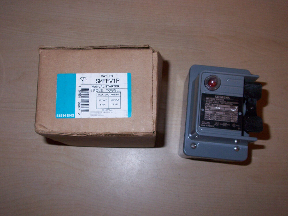 New Siemens Smffw1p Manual Motor Starter Switch On Off