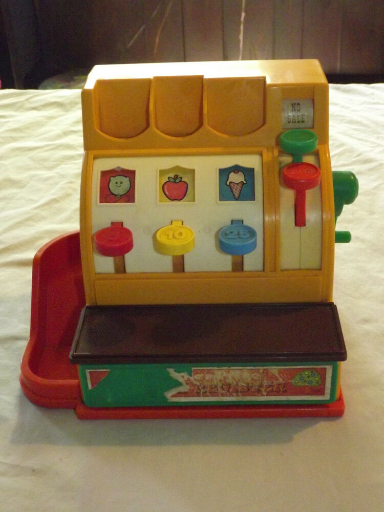 vintage toy 1974 fisher price cash register ebay. Black Bedroom Furniture Sets. Home Design Ideas