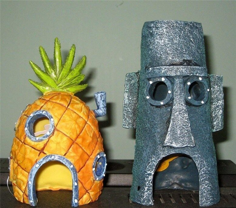 Spongebob pineapple house squidward easter island home for Penns fish house