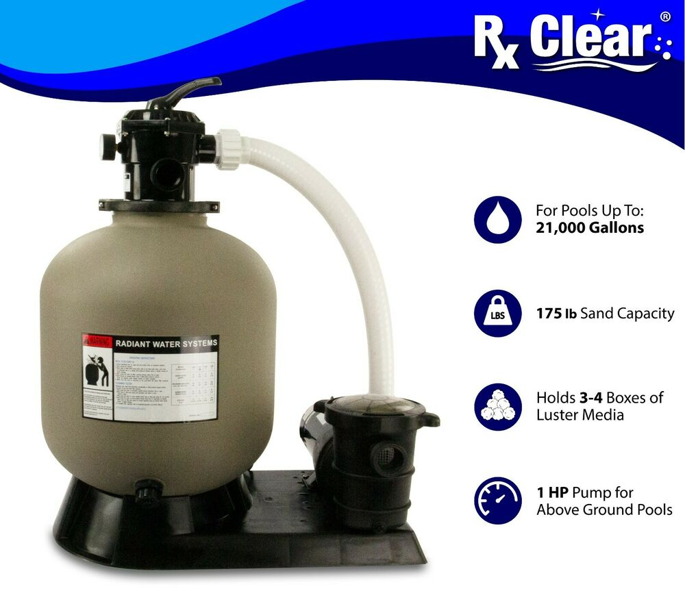 Radiant 19 inch above ground swimming pool sand filter system w 1 hp pump ebay - Sandfilterpumpe fur pool ...