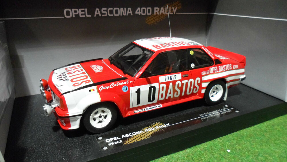 opel ascona 400 rallye monte carlo bastos au 1 18 sunstar 5363 voiture miniature ebay. Black Bedroom Furniture Sets. Home Design Ideas