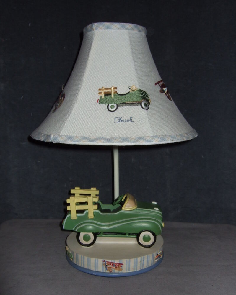 Table Lamps For Teen Boys : Truck table lamp boys kids room plane sail boat race car