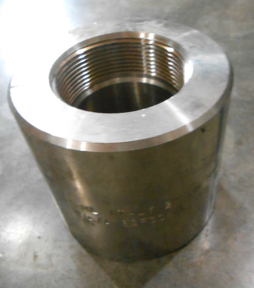 Stainless Steel Threaded Couplers : Stainless steel collar coupling threaded quot id l