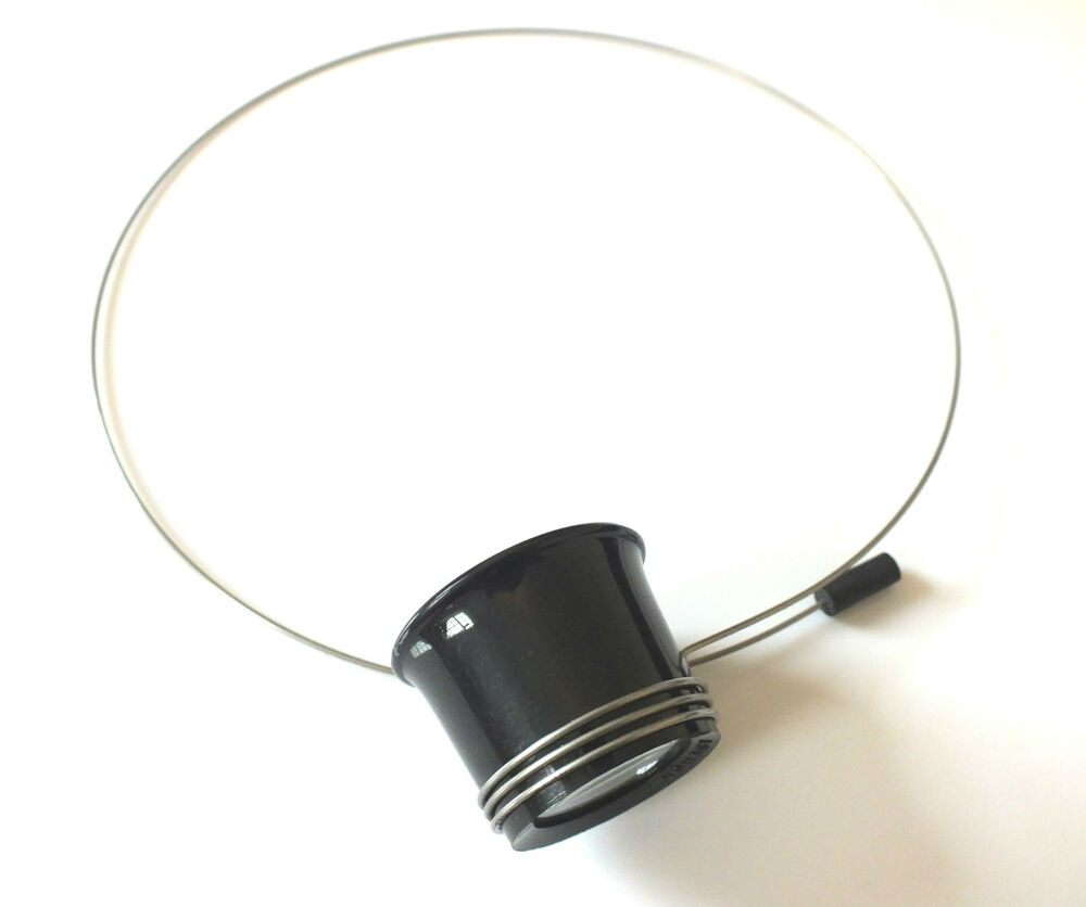 jewellers watchmaker eyeglass magnifier loupe with wire