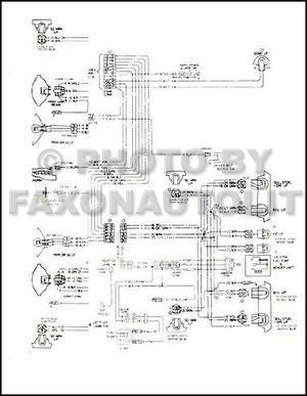 1979 Chevy    El       Camino    GMC Caballero Wiring    Diagram    Chevrolet Electrical Schematic   eBay