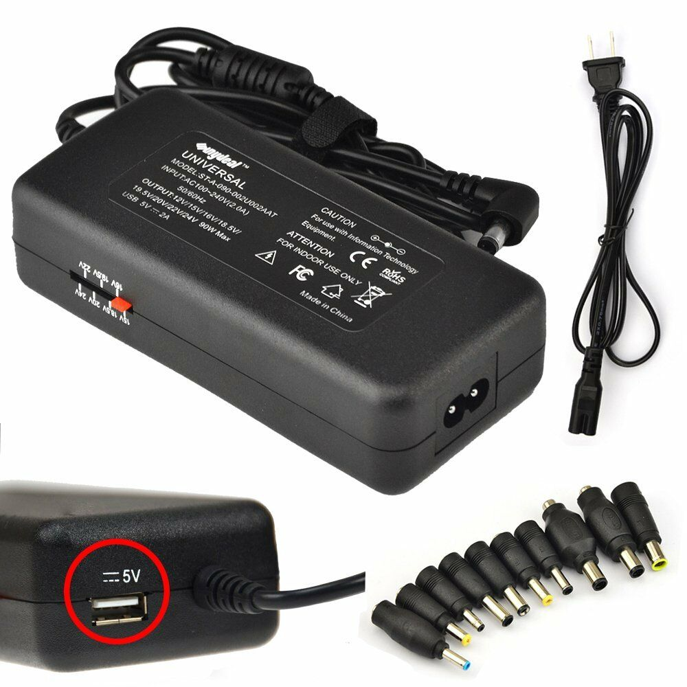 Universal Laptop Ac Adapter Charger Power Supply Cord Usb