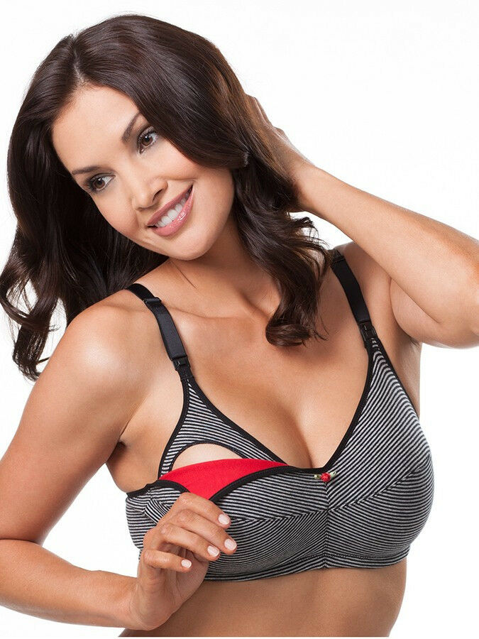 84423ff70ca7a Details about Leading Lady Casual Comfort Softcup Nursing Bra 2-Pack - 4001