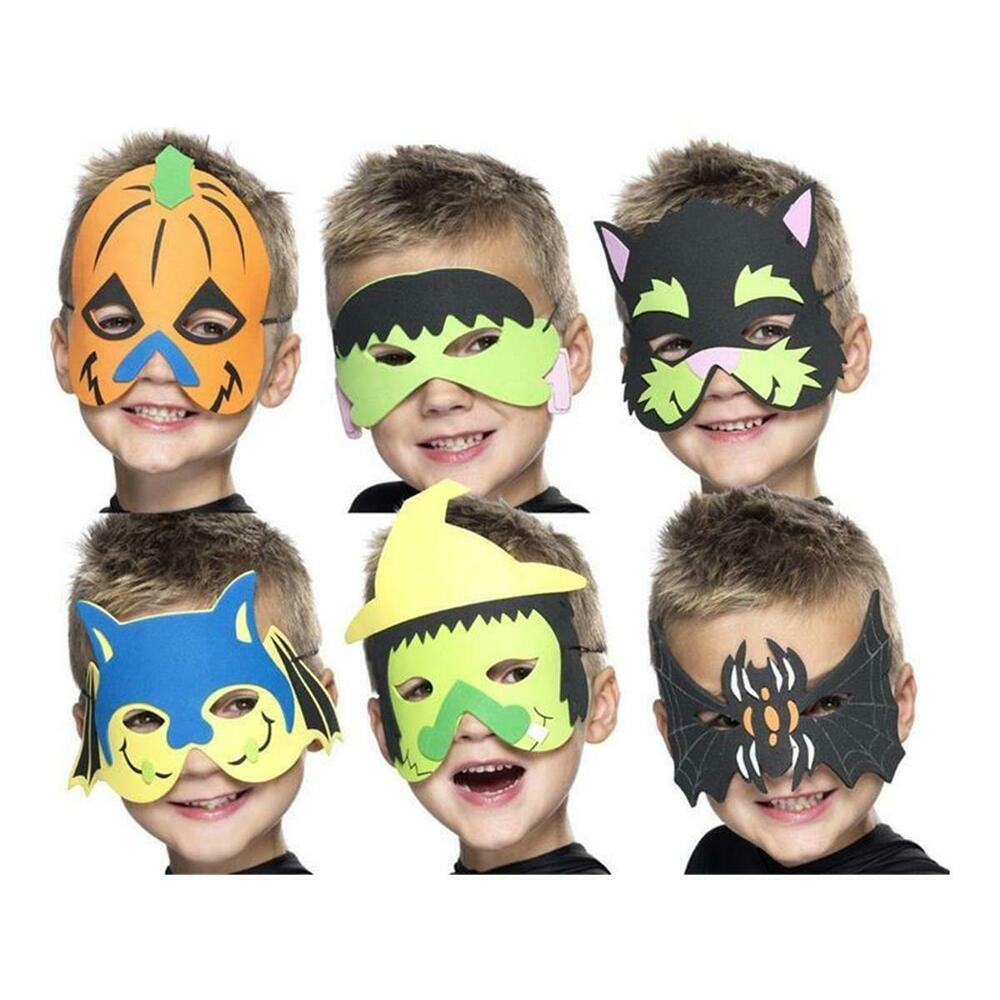 kindermaske halloween fasching kost m maske kinder spinne hexe fledermaus katze ebay. Black Bedroom Furniture Sets. Home Design Ideas