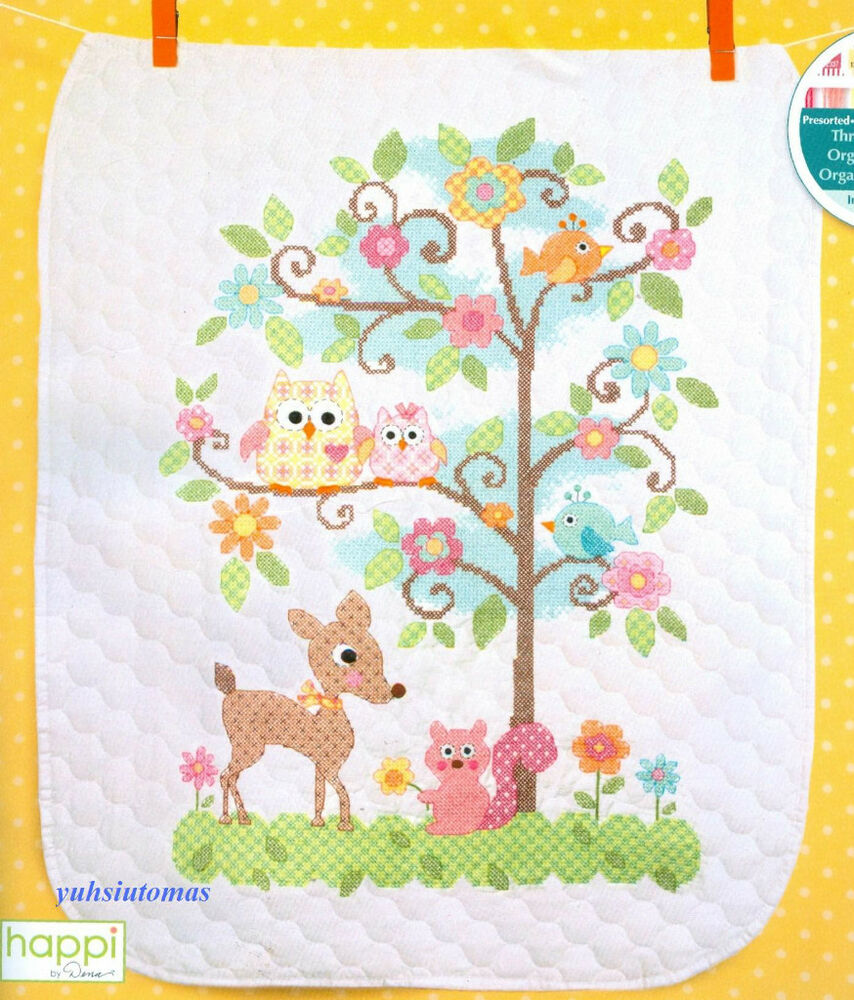 Dimensions Stamped Cross Stitch Kit Happi Tree Baby
