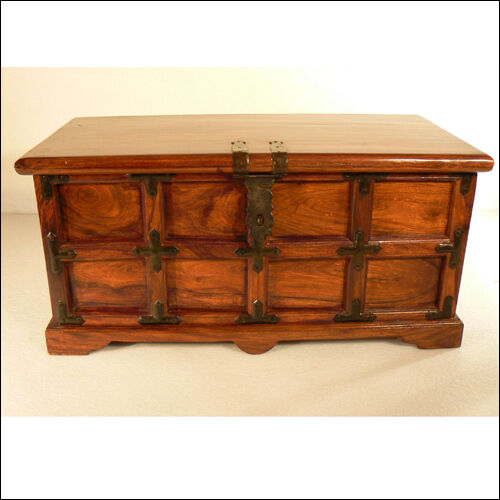 Coffee Table With Storage Ebay: Large Rustic Storage Coffee Table Wooden Box Chest Blanket