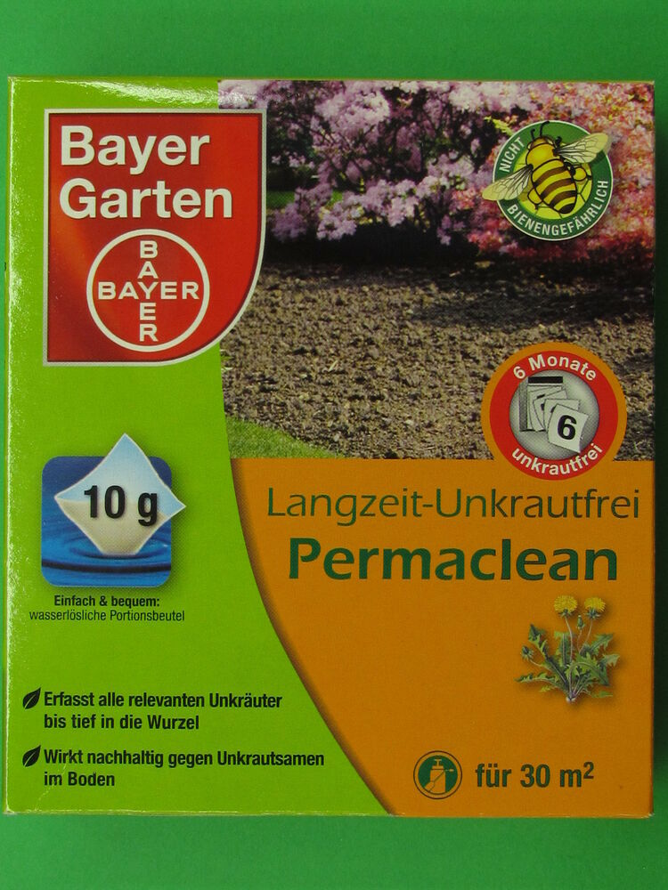 bayer garten langzeit unkrautfrei permaclean 30 gr f r 30. Black Bedroom Furniture Sets. Home Design Ideas