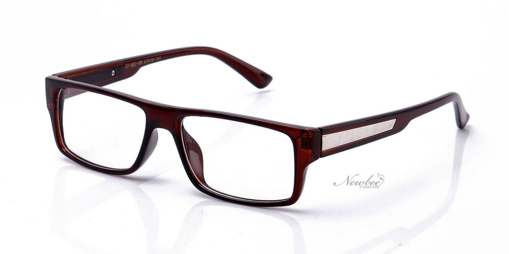 classic retro brown frame clear lens glasses style
