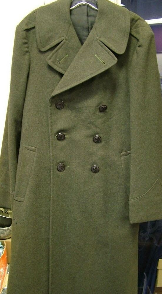 1942 1943 Wwii Us Marine Corps Long Wool Jacket Trench