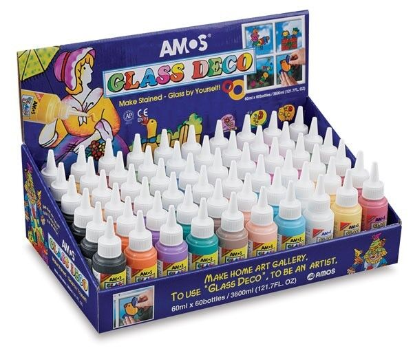 amos stained glass deco paint 60ml bottle peelable when. Black Bedroom Furniture Sets. Home Design Ideas