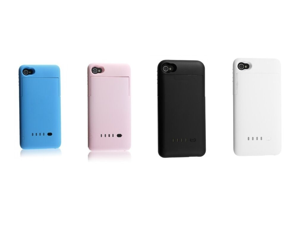 External Battery Charger Case Cover For iPhone 4 4s ...