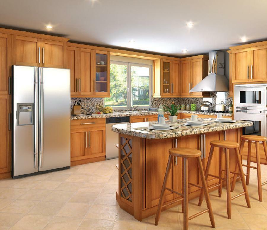 Brand New Shaker Kitchen Cabinets Honey Or Walnut Stained