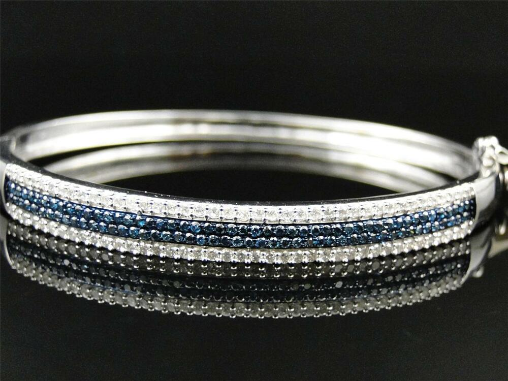14k Ladies White Gold Blue And White Prong Diamond Bangle. Grey Market Watches. Simple Gold Earrings. Wholesale Silver Jewelry. Small Diamond Bands. Wide Silver Bangle. Twist Bands. Kidney Transplant Bracelet. Happy Diamond
