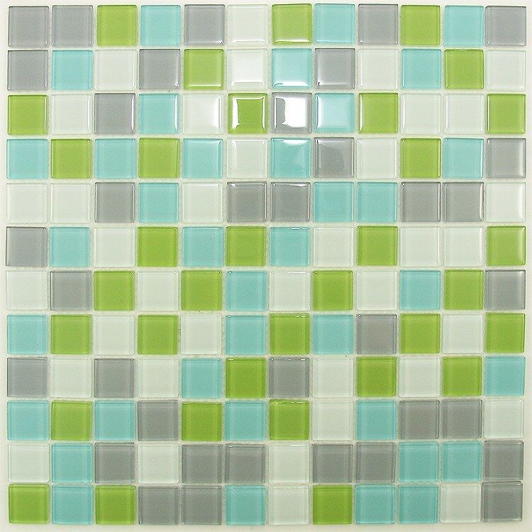 Green Turquoise Mix Glass Mosaic Tile Bathroom Kitchen Backsplash
