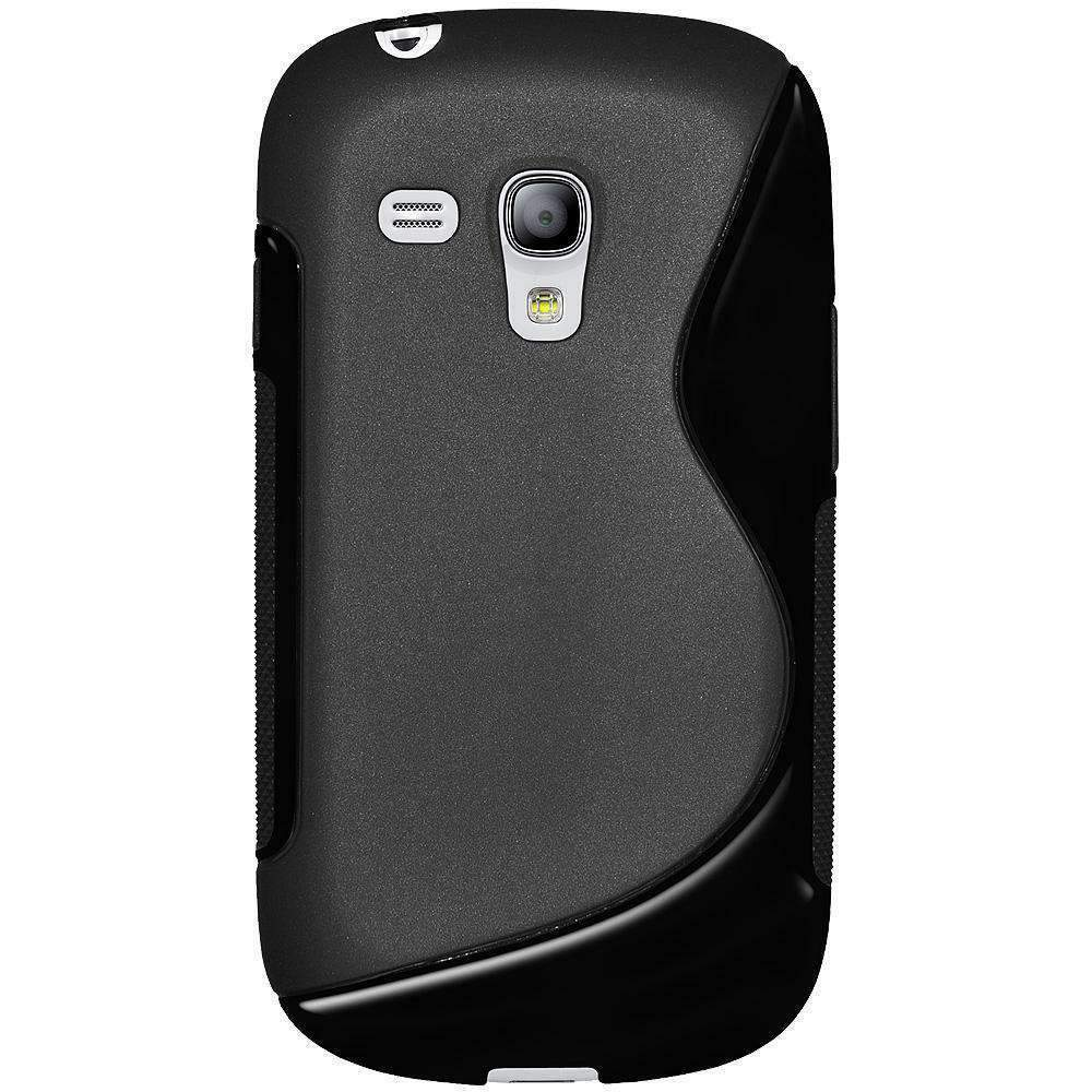 ... HYBRID SKIN CASE COVER FOR SAMSUNG GALAXY S3 MINI I8190 - BLACK : eBay