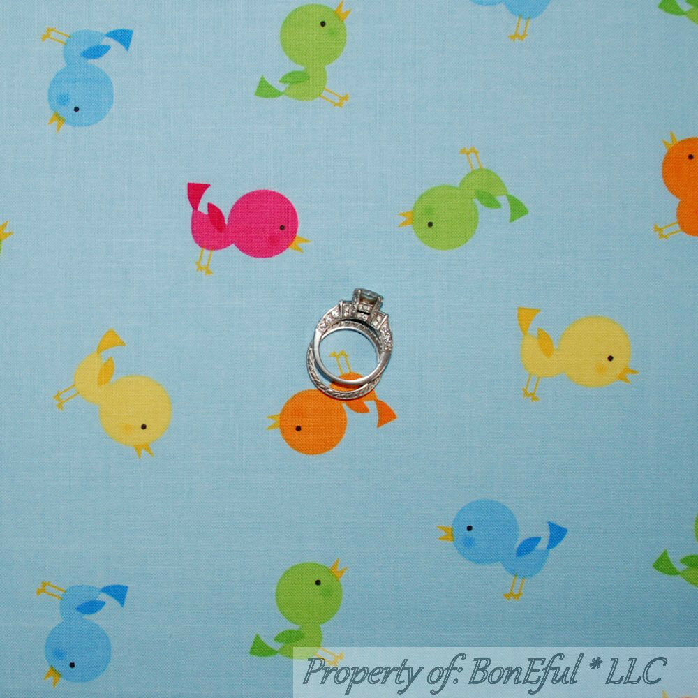 Boneful fabric fq cotton quilt blue pink yellow green baby for Yellow nursery fabric
