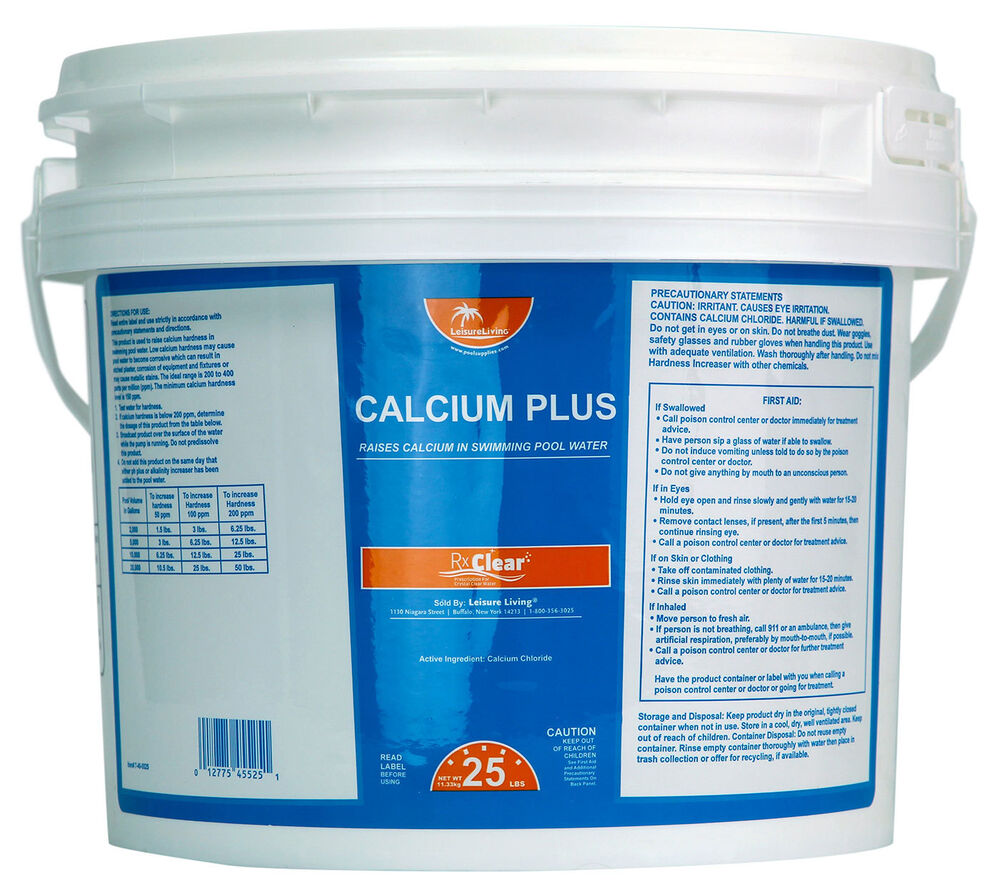 Rx Clear Granular Calcium Hardness Increaser Plus For Swimming Pools 25 Lbs Ebay