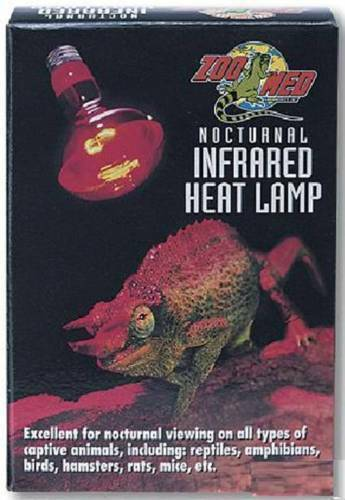 Zoo Med Nocturnal Infrared Heat Bulb Reptile Night Light