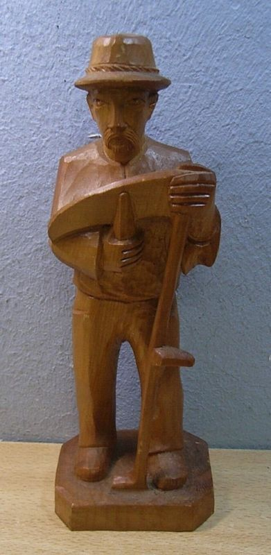 Vintage german folk art wood carved farmer man cf ebay