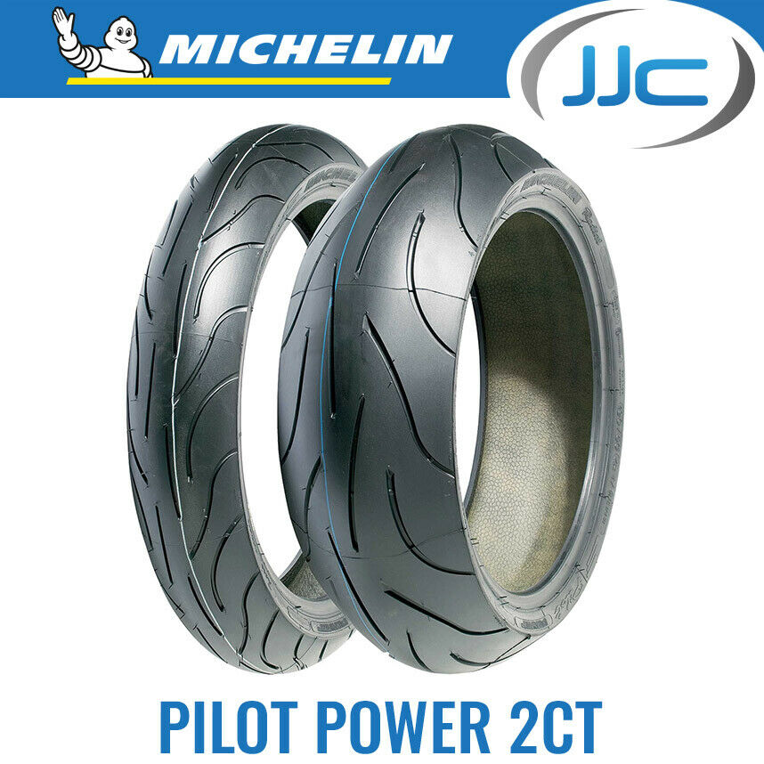pair of michelin pilot power 2ct motorcycle bike tyres. Black Bedroom Furniture Sets. Home Design Ideas