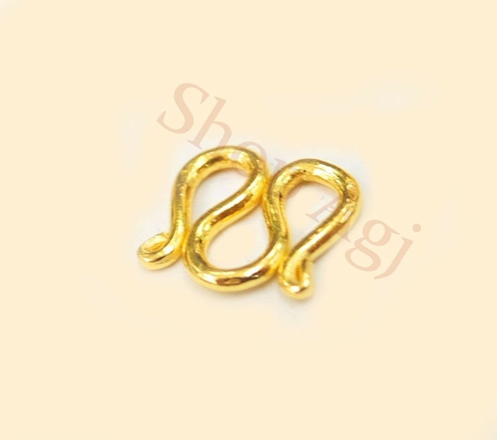 22k 22kt solid real gold clasp for 23k 24k baht