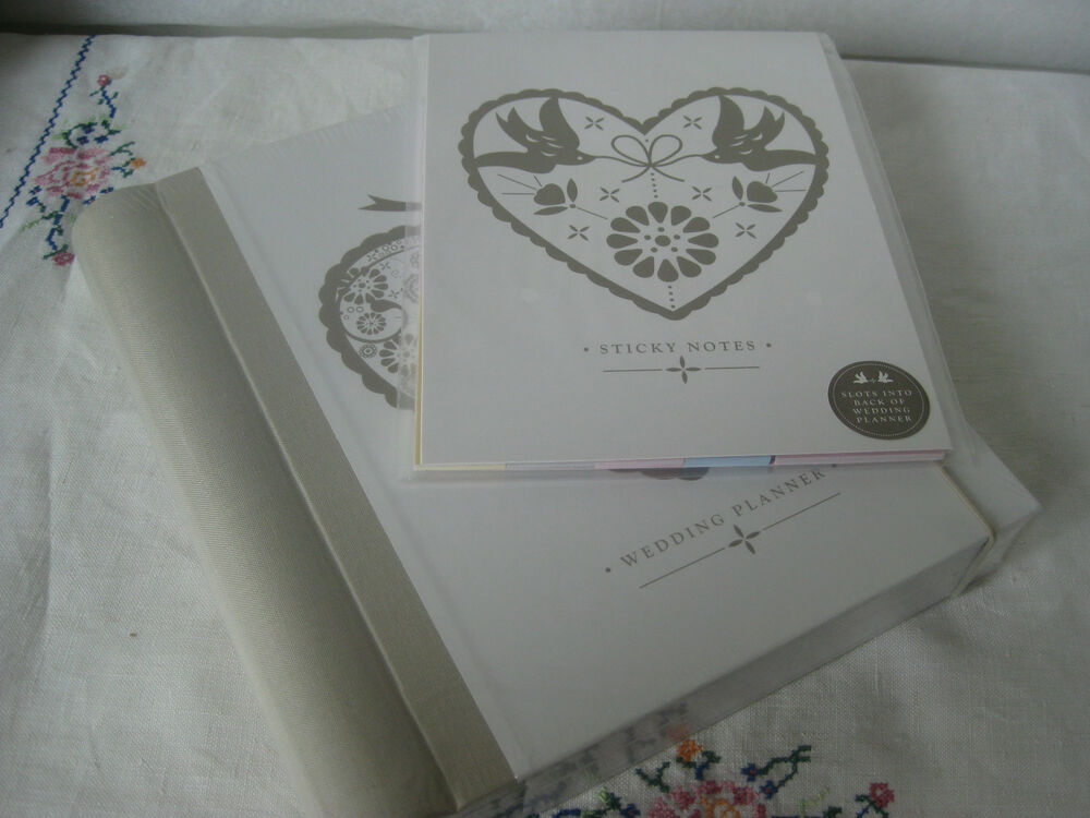 Gifts For Wedding Planners: SET WEDDING PLANNER & STICKERS FILE VINTAGE HEART BOOK