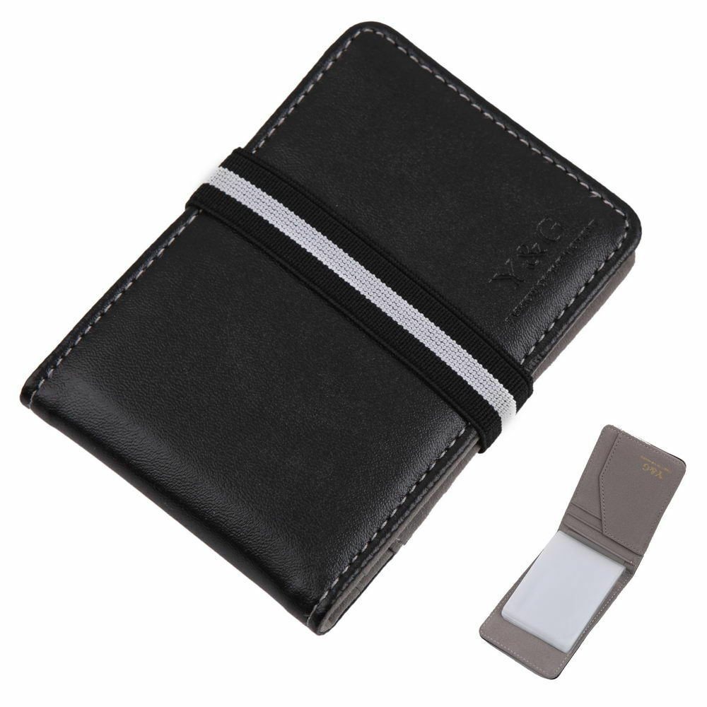 Ycc1011 Wallet With Rubber Band Black Fashion Mens Credit