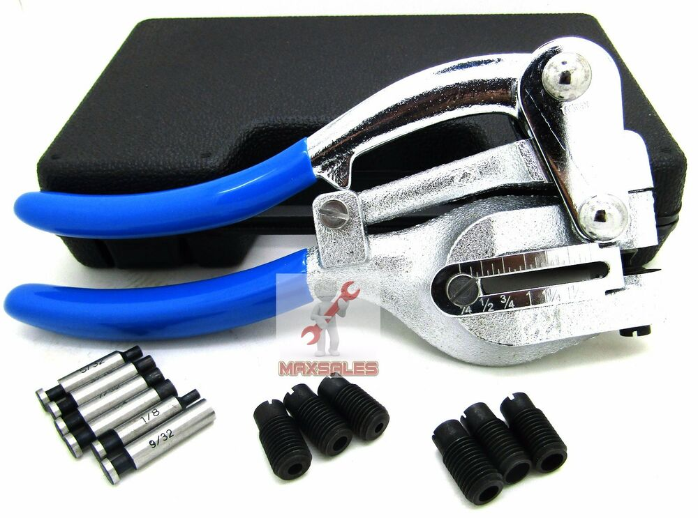 New Power Hole Punch Kit Sheet Metal Hand Tool Set